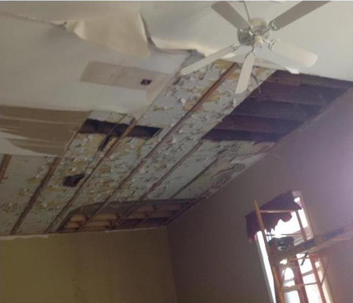 Water Damage at a Church Building Before